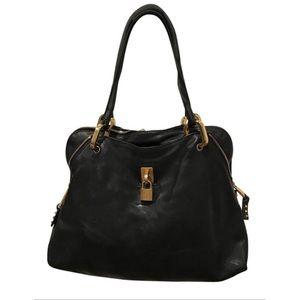 Marc Jacobs Paradise Rio Black Leather Tote Bag